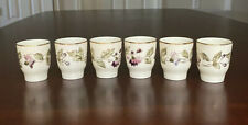 Zsolnay Hungary Pecs Hand Painted Shot / Egg Cups Set Of 6