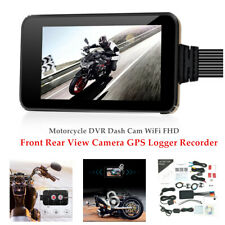 1 Set Motorcycle DVR Dash Cam WiFi FHD Front Rear View Camera GPS Logger Durable