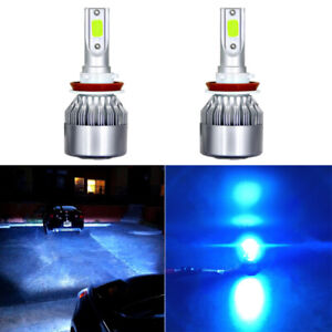 H11 LED Headlight Bulbs Low Beam Extremely Bright 10000LM 8000K ICE Blue H9 H11