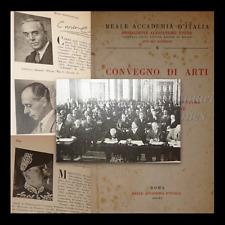 ARTI: Convegno VOLTA 1936, ARCHITETTURA E ARTI FIGURATIVE, FUTURISMO Accademia