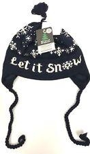 Vermont Originals Wool Beanie Nordic Fair Isle USA Made Earflap Ski Tassel Hat