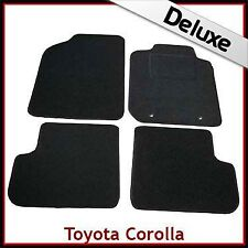 Toyota Corolla Mk9 / E120 E130 2001-2007 Tailored LUXURY 1300g Carpet Mats BLACK