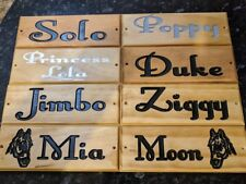 Horse Dog Name Plate Stable Door Sign Office Wooden House Plaque Engraved Wood