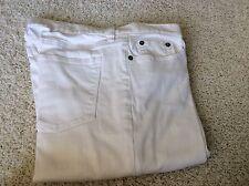 Ralph Lauren Jeans Co  White Jean Cotton Spandex Denin Boot 6 Waist Belft Loops