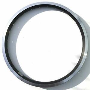 "Brompton BLACK 16 x 1 3/8"" double wall angle drilled wheel rim 28 hole"