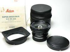 Leica Super-Angulon-R 21mm F4 E72 11813 BOXED