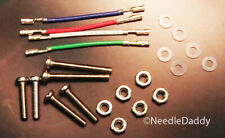 New Cartridge installation kit for Shure Cartridges. Screws, nuts, lead wires