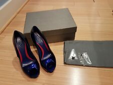Alexander McQueen patent peep toe platform shoes size UK4 / EU36