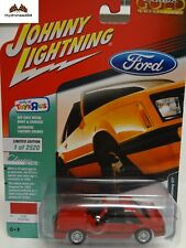 Johnny Lightning 1982 Ford Mustang GT Brite Red TOYSRUS Exclusive - 18S