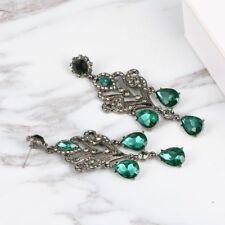 Vintage Boho Earrings Jewelry Crystal Rhinestones Dangle Women Drop Tassel