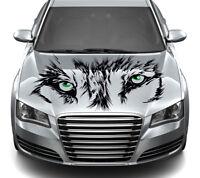 Wolfsaugen Autoaufkleber Autotattoo Größe 114cm x 58cm Folie ORACAL 651