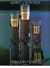 PUBLICITE ADVERTISING 104  1980  MOLYNEUX  pafum pour Homme 2 QUARTZ