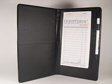Black Waitress Pad Holder Guest Check Book Order Pad Book New