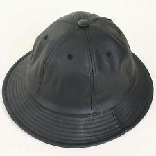 Bucket Faux Leather Outdoor Activities Visor Cap Unisex Camping Hiking Sport Hat
