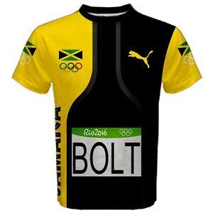 Usain Bolt Rio Summer Olympic Games 2016 Sport Mesh Tee T-Shirt UB2