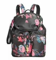 Steve Madden Lily Backpack w/ Removable Belt Bag Black & Pink Floral