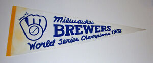 1982 Milwaukee Brewers #1 World Series Champs pennant Robin Yount Paul Molitor