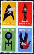 STAR TREK US 5132-5135 SPACE THE FINAL FRONTIER 4 MNH VF FOREVER STAMP BLOCK SET