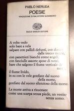 PABLO NERUDA-POESIE-QUASIMODO-Einaudi 1979