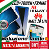 DISPLAY LCD+TOUCH SCREEN+FRAME PER HUAWEI MATE 10 LITE RNE-L01 L21 L23 NOVA 2i