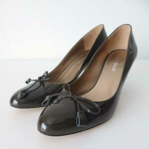 BALLY Women's Shoes rrp $870 Size 38.5 Brown Patent Leather Pumps  Made in Italy