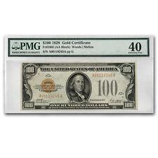 1928 $100 Gold Certificate XF-40 PMG