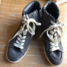 9381dc28a22e New ListingSam Edelman Sz 9 Britt Steel Gray Suede High-Top Sneaker Lace Up  Athletic Shoes