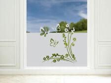 Sichtschutzfolie Schmetterlinge Blumen Fensterfolie blickdicht Wohnzimmer Küche