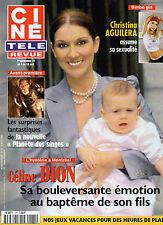 CINE REVUE 2001 N°31 celine dion christina aguilera al pacino josette day