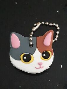 Cat Kitten PVC Key Cover Keyring /Novelty Gift Key Cap UK SELLER Tortoi