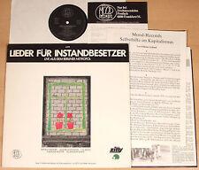 LIEDER FÜR INSTANDBESETZER - Live Metropol  (MOOD 1981 + OIS + BOOKLET / LP m-)