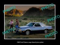 OLD 8x6 HISTORIC PHOTO OF THE 1980 FORD FUTURA CAR LAUNCH PRESS PHOTO
