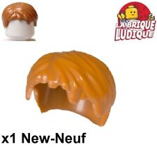 Lego - 1x Minifig cheveux coiffure hair court chair/medium dark flesh 62810 NEUF