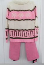 1960s White Stag Ski Pants / Sweater Pink White Snow Bunny 4-Pieces - Cute!