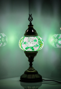 handmade Mosaic Lamp Green Snow Flake