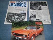 "1969 Chevy Camaro SS 396 L89  Article ""The Rarest And Hottest of the 396s"""