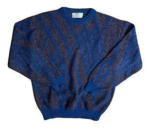 Vintage Christian Dior Mens Geometric Crewneck Sweater Size L