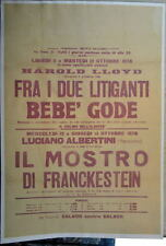 1926 IL MOSTRO DE FRANKENSTEIN MOVIE POSTER Italian Frankenstein Movie RARE
