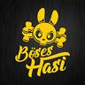 Böses Hasi Böser Hase Totenkopf Cartoon Gelb Auto Vinyl Decal Sticker Aufkleber