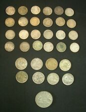 Australian Silver Coins. Three Pence & Six pence & Florin total 33 Coins;Charity