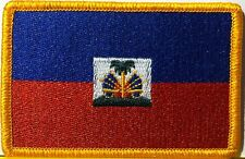 HAITI  Flag Patch With VELCRO® Brand Fastener Military Emblem