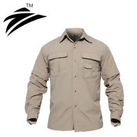 Jopalsueta Zip Off Sleeve Mens Quick Dry Shirts Hiking T-shirts Removable Tops