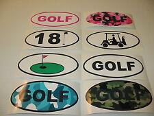 GOLF OVAL Decal LOT Window & Bumper Sticker Mens Ladies Camo Cart 18 Hole