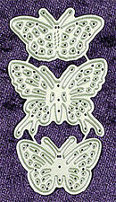 All Occasion Dies   Small Butterflies Set of 3 Metal Craft Dies - Rob Addams 037