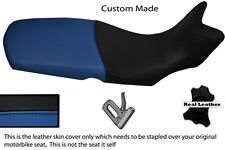 ROYAL BLUE AND BLACK CUSTOM FITS BMW F 650 GS 08-12 REAL LEATHER SEAT COVER