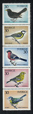 Sweden 1970 Local Birds--Attractive Topical (873-77) MH