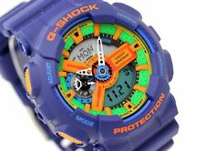 CASIO G-Shock GA110FC-2A GA-110FC-2A Blue Analog Digital XLarge 200m WR !