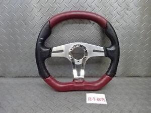 MOMO TREK R leather steering wheel handle 35 cm
