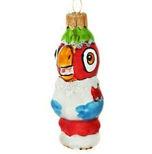 "4"" Christmas Glass Ornament Bird Figurine Kesha the Parrot Russian Cartoon"