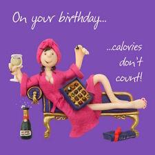 """HOLY MACKEREL """"calories ne compte pas"""" Carte d'anniversaire 1ST libre p&p Carte de vœux"""